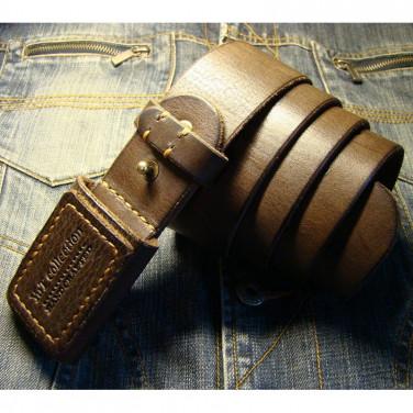 Кожаный ремень ручной работы Cinnamon Brown Leather