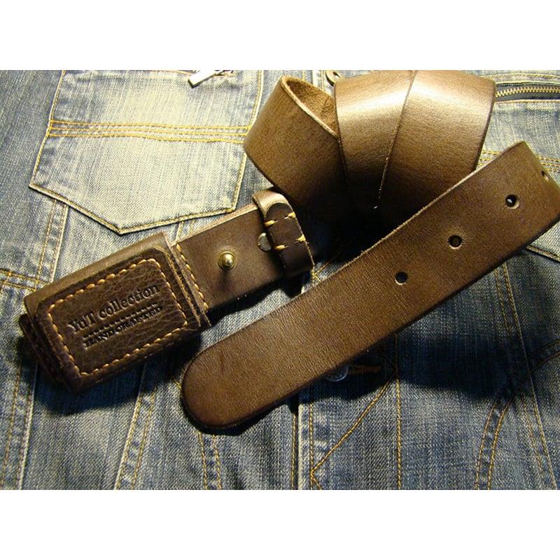 Шкіряний ремінь ручної роботи Cinnamon Brown Leather