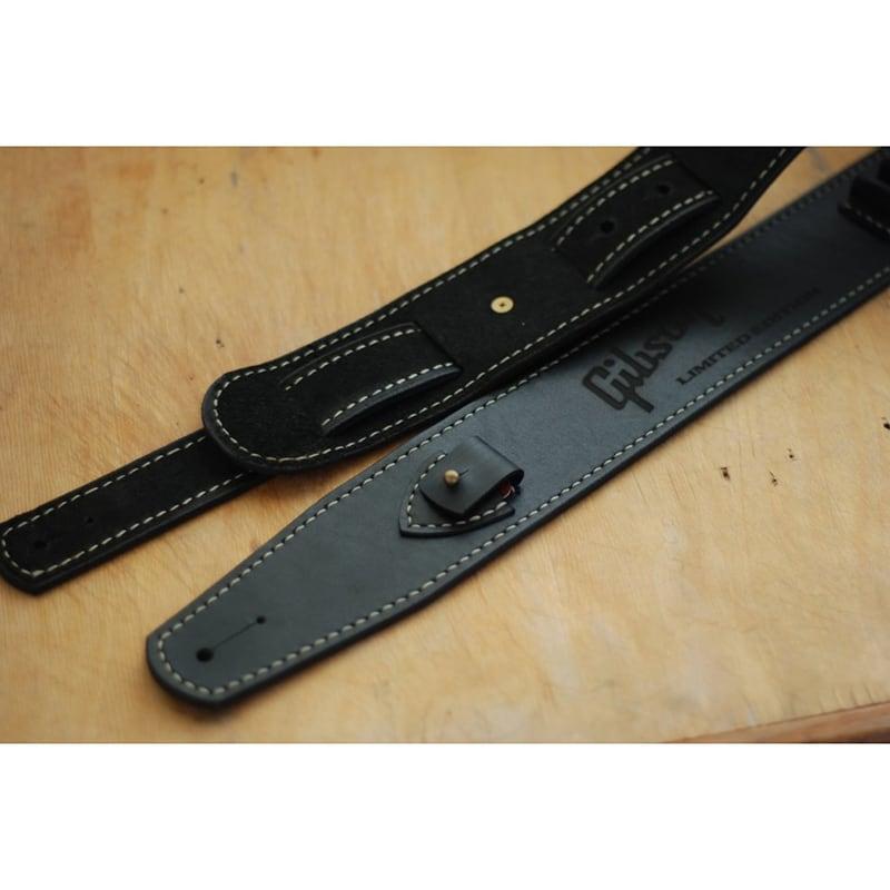 Шкіряний ремінь для гітари Gibson Black Leather