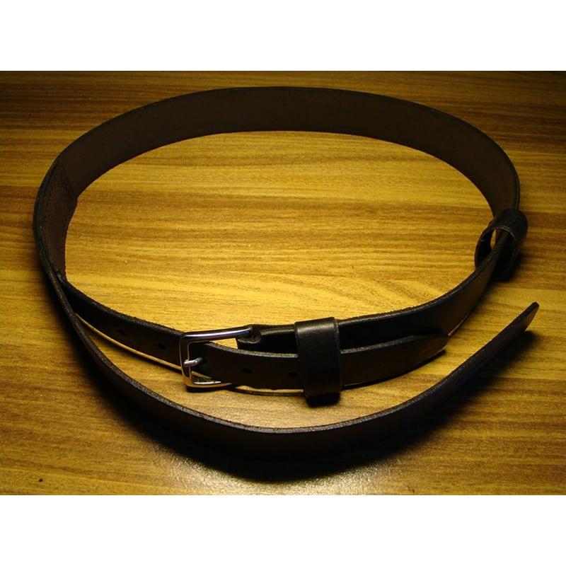 Шкіряний ремінь ручної роботи Black Leather Retro