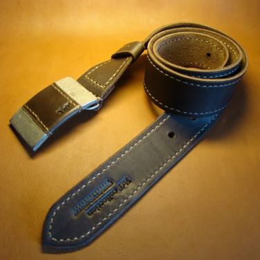Кожаный ремень ручной работы American Style Brown Leather