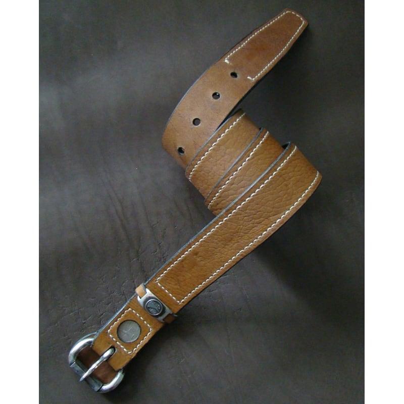 Чоловічий шкіряний ремінь Your Style Brown Leather