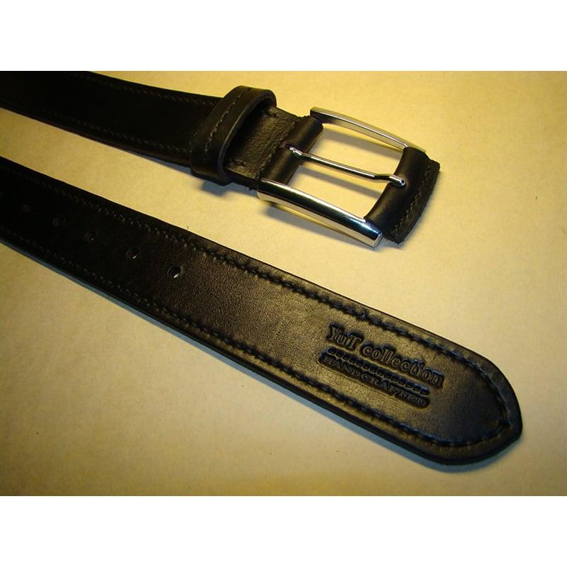 Кожаный ремень ручной работы Your Style Black Leather