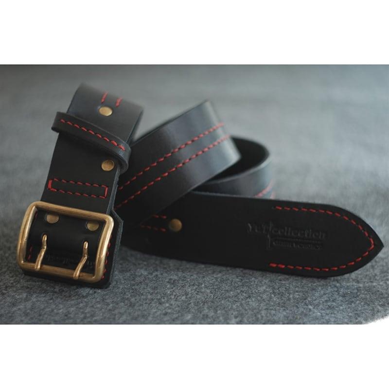 Шкіряний ремінь ручної роботи Severe Black Leather