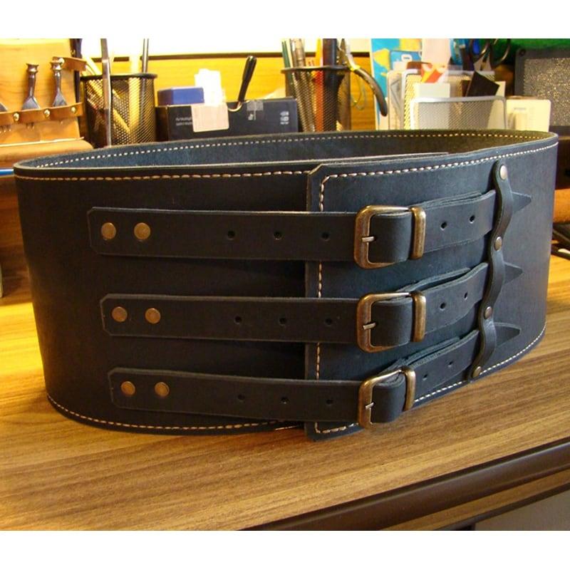 Кожаный ремень ручной работы Cheres Black Leather