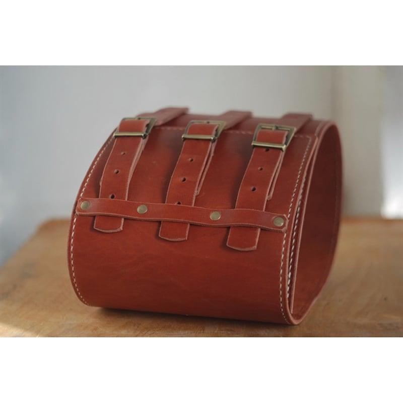 Кожаный ремень ручной работы Wide Cheres Red Leather