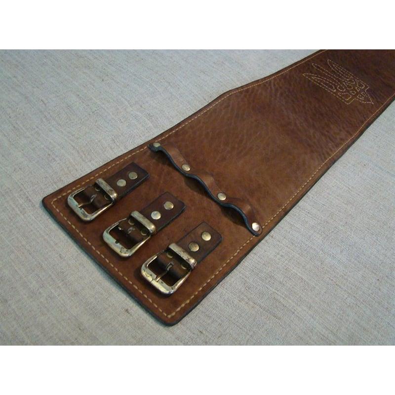 Кожаный ремень ручной работы Vintage Cheres Brown Leather