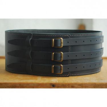 Шкіряний ремінь ручної роботи Brutal Cheres Black Leather