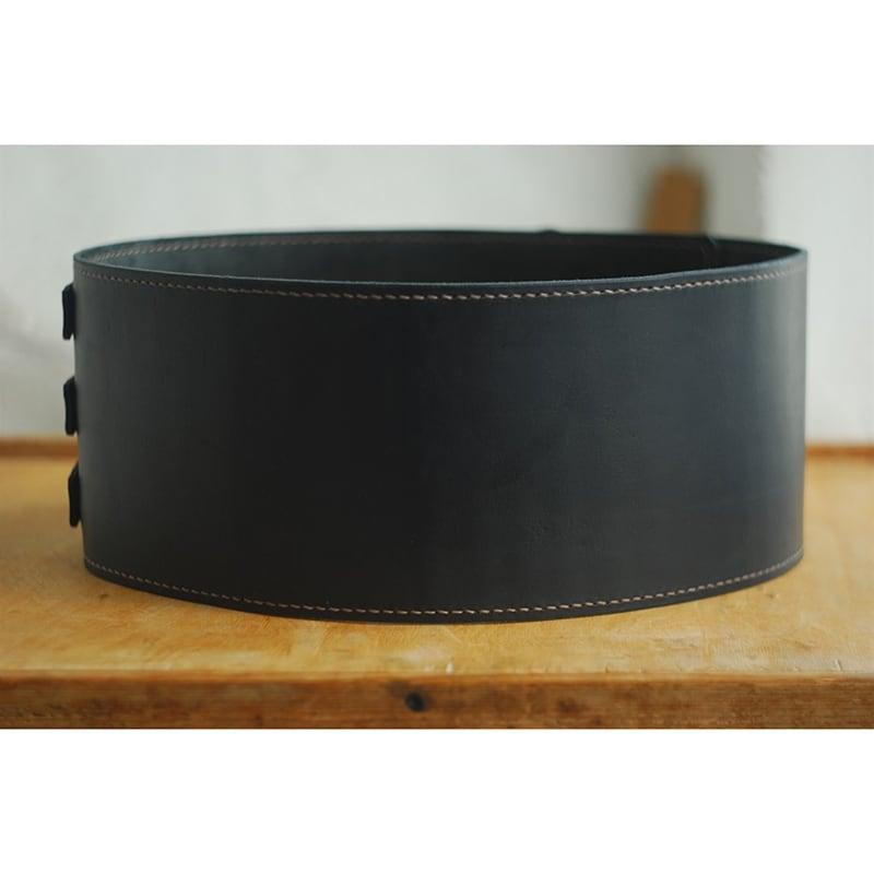 Кожаный ремень ручной работы Brutal Cheres Black Leather