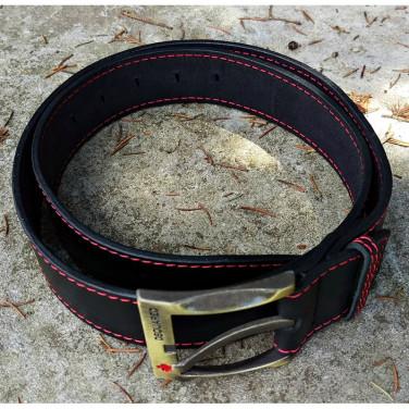 Ремінь шкіряний чоловічий Belt Strong black leather