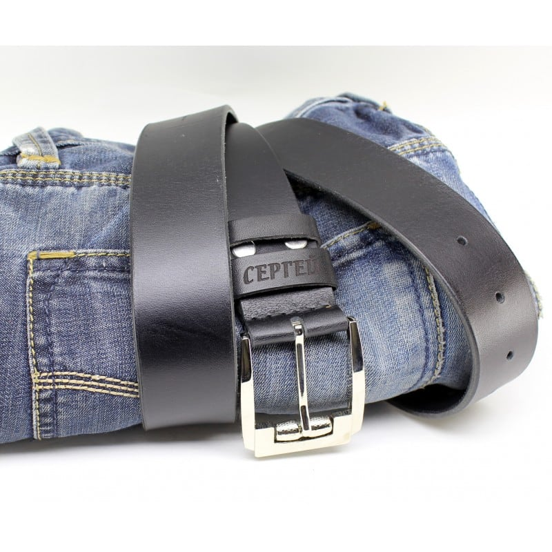 Кожаный ремень Belt Personal Katran black leather