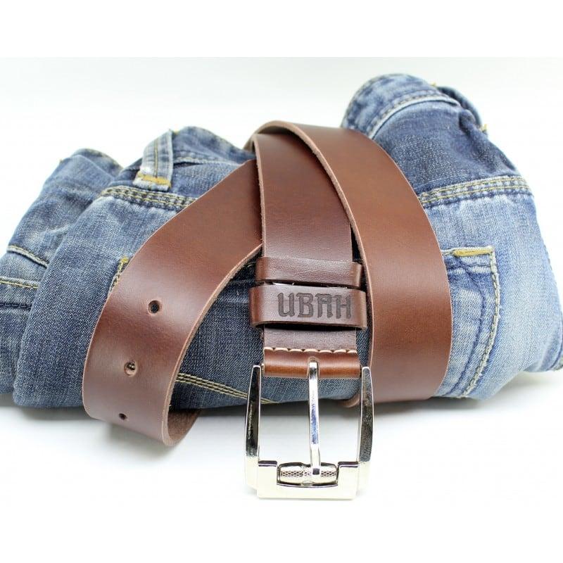 Ремінь чоловічий Belt Personal Mahogany brown leather