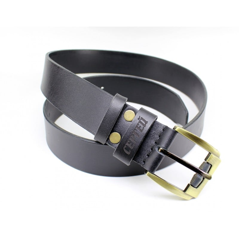 Мужской ремень Belt Personal Naval blue leather