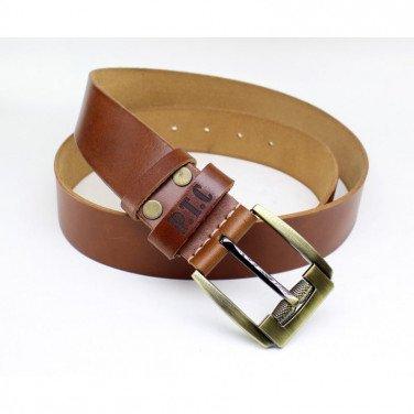 Ремінь чоловічий Belt Personal Brandy brown leather