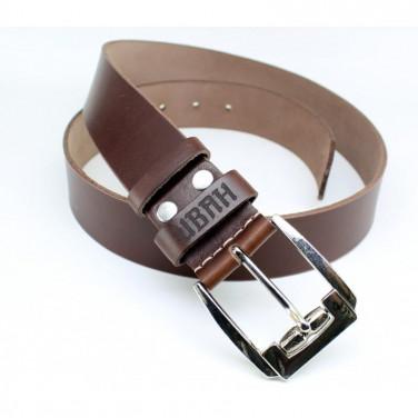 Ремінь чоловічий шкіряний Belt Personal Nut brown leather
