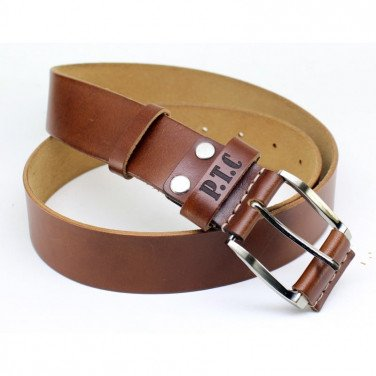 Ремень мужской Belt Personal Chestnut brown leather