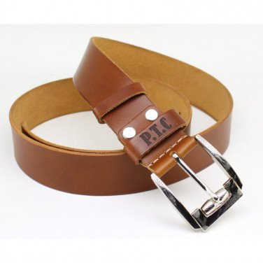 Ремінь чоловічий шкіряний Belt Personal Sienna brown leather