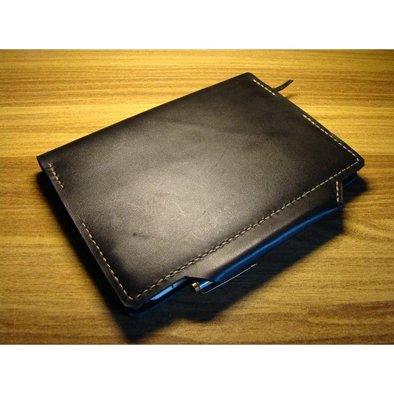 Кожаный блокнот-папка Houston black leather