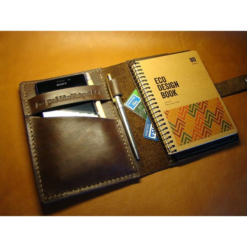 Шкіряний щоденник ручної роботи San Antonio brown leather