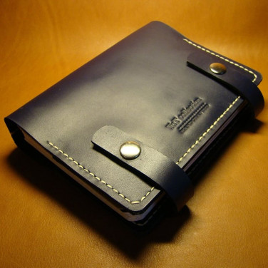 Шкіряний блокнот-щоденник для чоловіків Austin blue leather