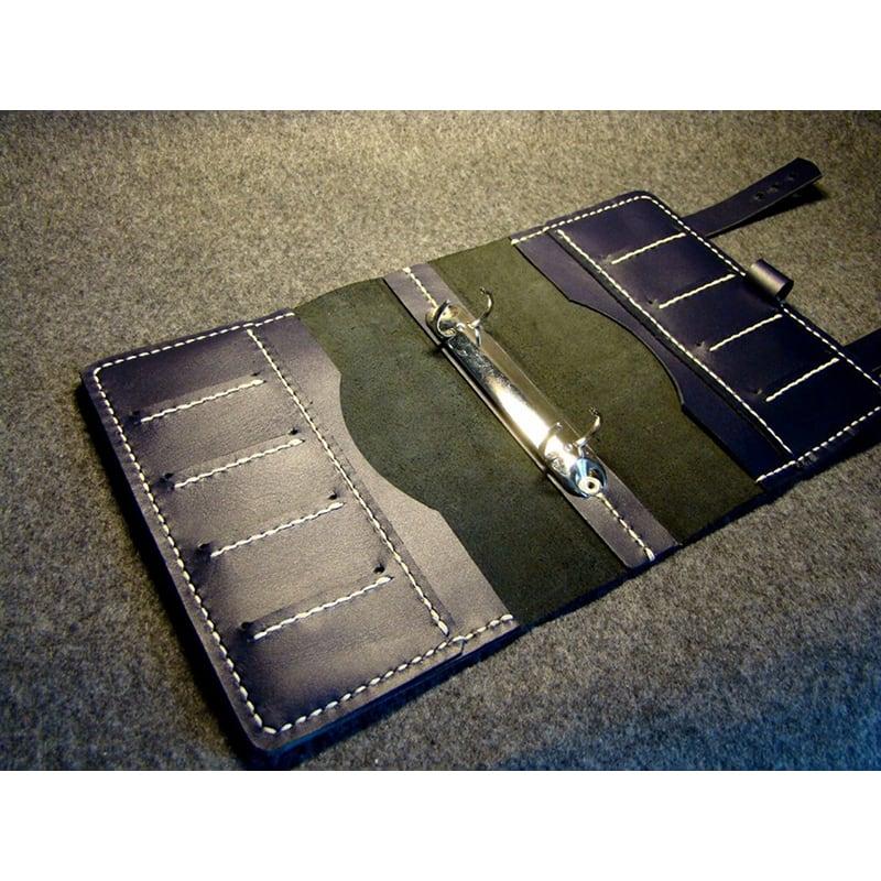 Кожаный блокнот органайзер El Paso blue leather