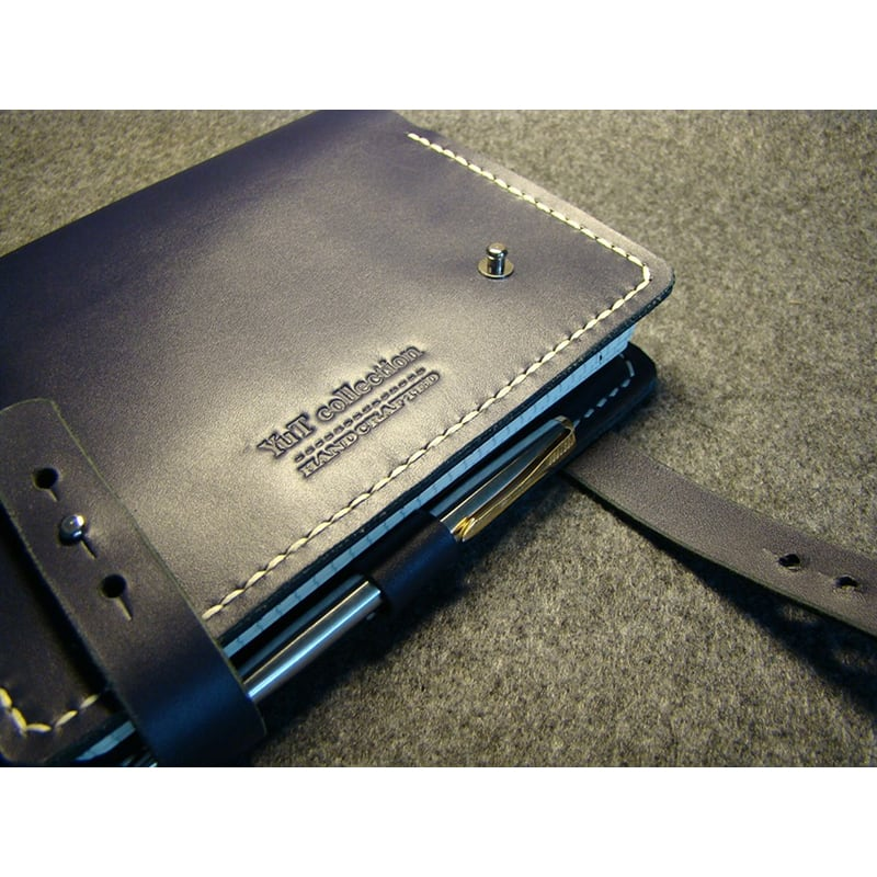 Шкіряний блокнот органайзер El Paso blue leather