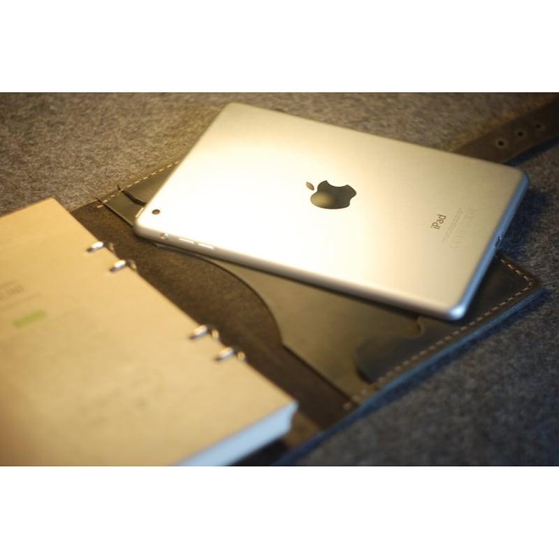 Кожаный ежедневник А5 для Apple iPad mini Frisco black leather
