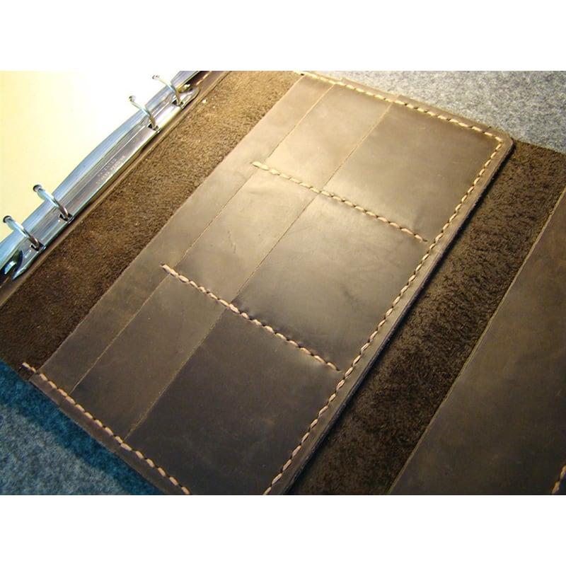 Шкіряний блокнот А5 на кільцях Odessa brown leather