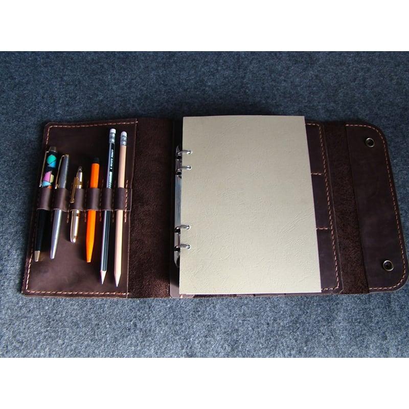 Кожаный блокнот А5 на кольцах Odessa brown leather