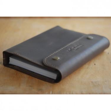 Шкіряний щоденник А5 на кільцях Richardson gray leather