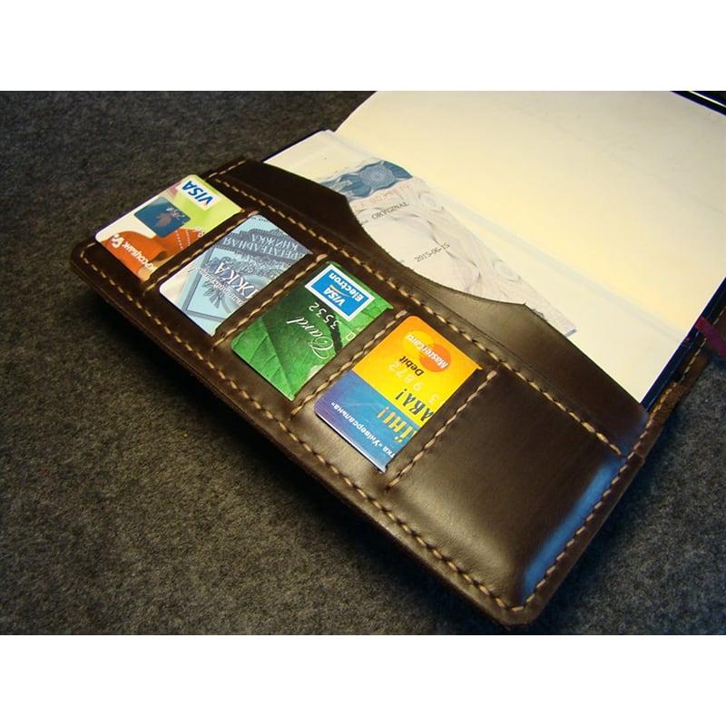 Обложка кожаная на блокнот А5 Amarillo brown leather