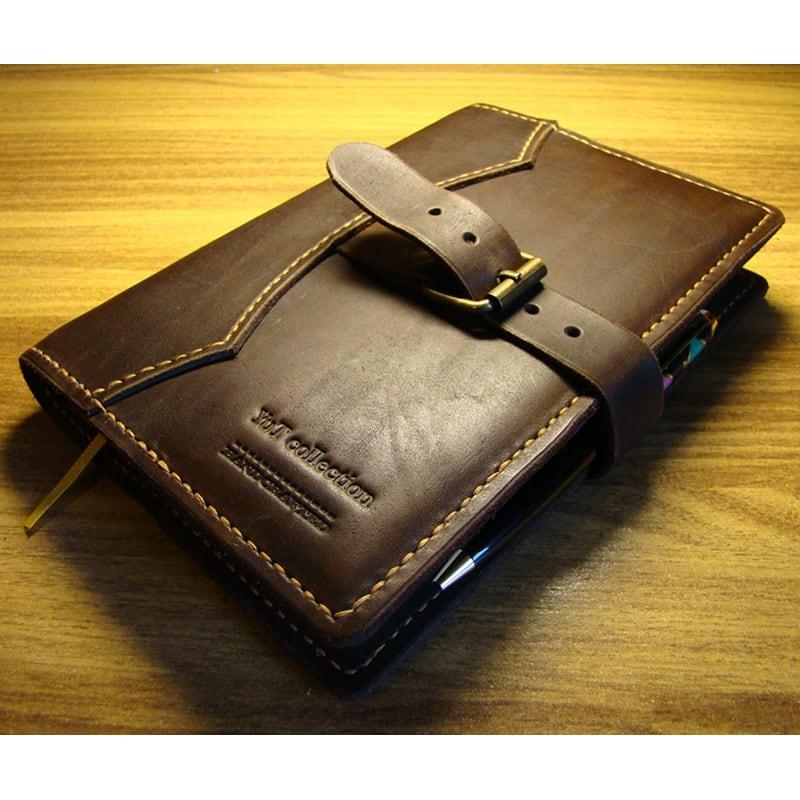 Обложка для блокнота Pasadena brown leather