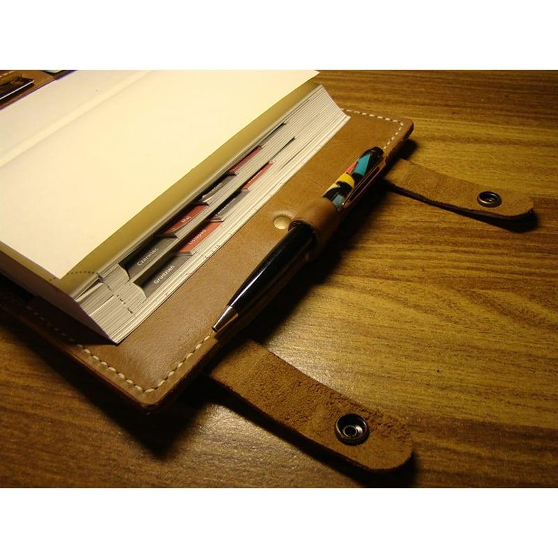 Обложка на блокнот Denton yellow leather