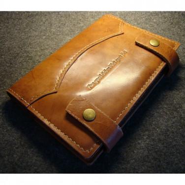 Шкіряна обкладинка блокнот А5 Beaumont brown leather