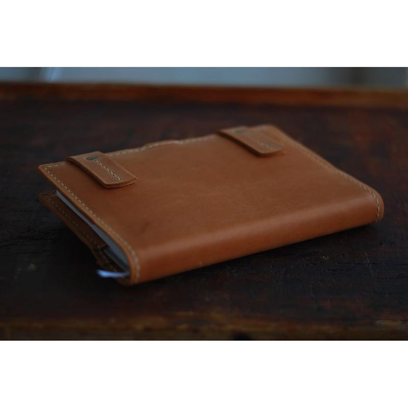 Шкіряна обкладинка для блокнот А5 Round Rock brown leather