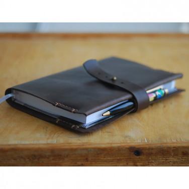 Обложка кожаная для блокнота А5 Tyler black leather
