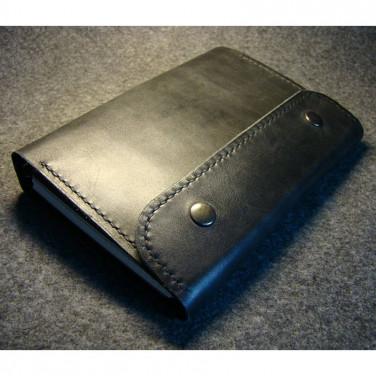 Кожаный ежедневник-папка Garland black leather
