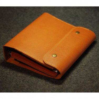 Шкіряний блокнот ручної роботи Irving red leather