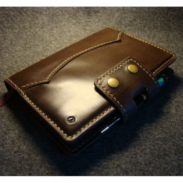 Шкіряна обкладинка на блокнот А5 Amarillo brown leather