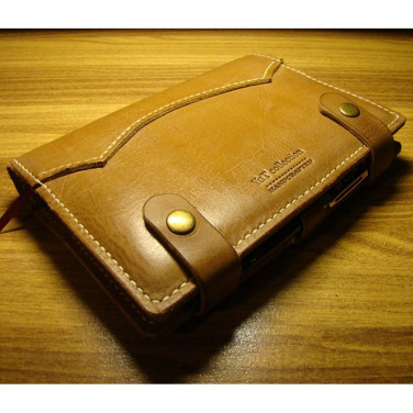 Обкладинка блокнот Denton yellow leather