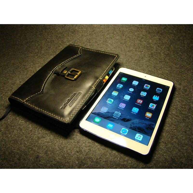Обкладинка блокнот А5 і Apple iPad mini Bryan black leather