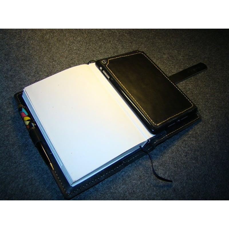 Обложка на блокнот А5 и Apple iPad mini Bryan black leather