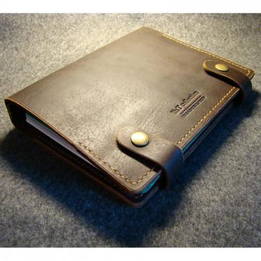 Шкіряний блокнот-щоденник А5 Temple brown leather