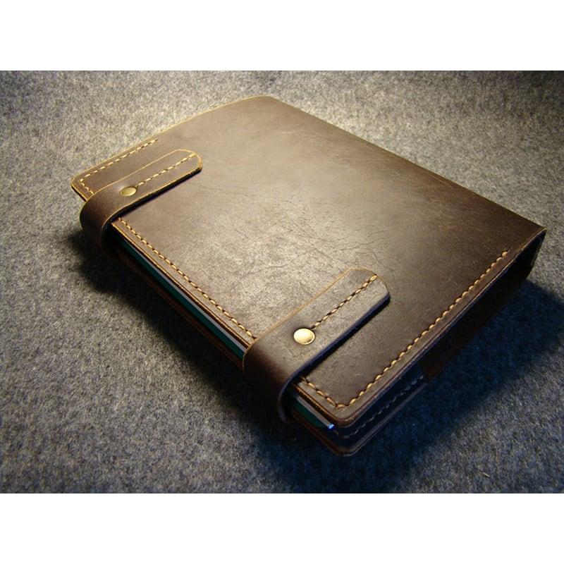 Кожаный блокнот ежедневник А5 Temple brown leather