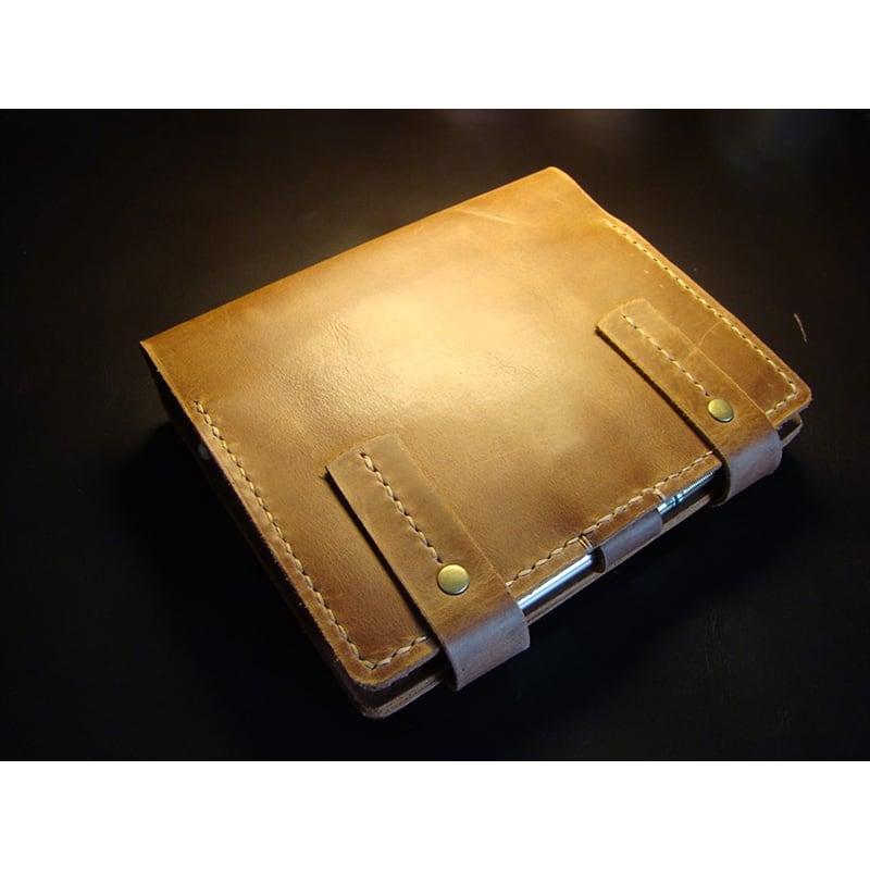 Кожаный блокнот В6 Victoria brown leather
