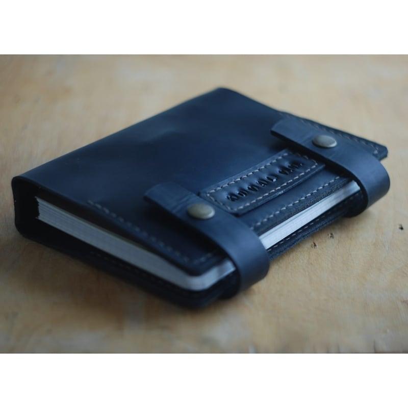 Кожаный блокнот DeSoto blue leather