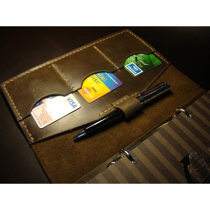 Шкіряний блокнот А5 Pharr brown leather