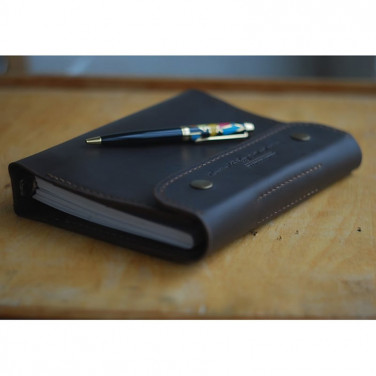 Кожаный блокнот А5 Atascocita black leather