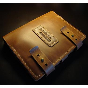 Шкіряний блокнот В6 Victoria brown leather