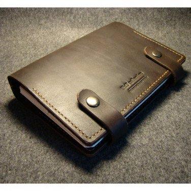 Шкіряний блокнот Mission brown leather